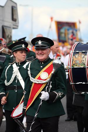 Drum Major with CLB band from Newtownards. Submitted by James Patterson