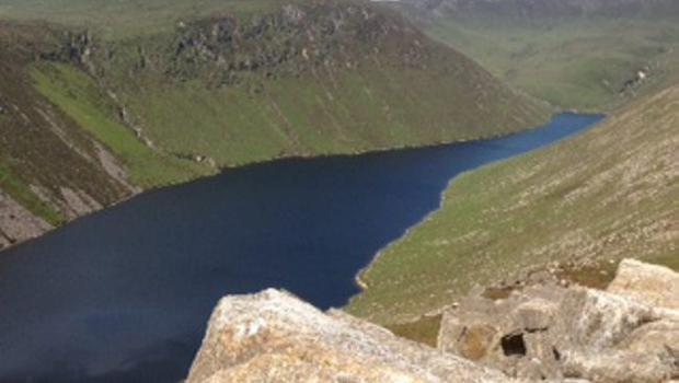 Ben Crom reservoir from top of Slieve Binnian. Credit: Gordon Groves