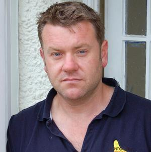 Phil Haley neighbour of Chris Hall who was found dead with his young son, also called Chris, in Poole