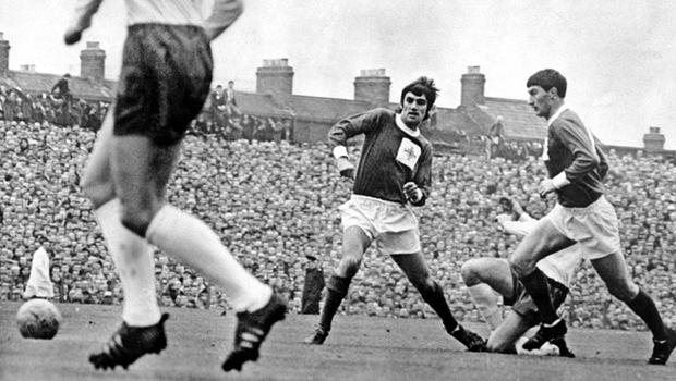 George Best, during the Northern Ireland v England match in October 1966