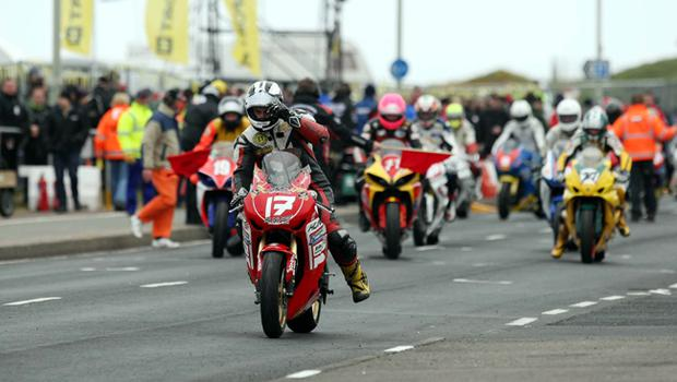Michael Dunlop pictured at the second practice on the North coast circuit at the Relentless International North West 2010