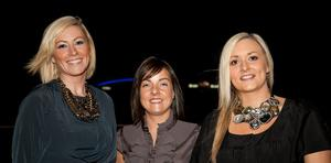 Mairead McCusker, Emma Filmer-Doyle and Sarah Ruddy - at the Argento winter collection launch in The Ivory, Belfast