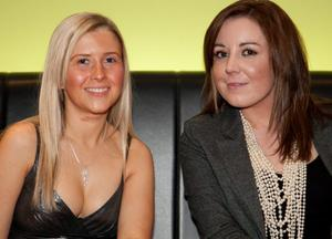 Danielle Neill and Emma McClure  - at the Argento winter collection launch in The Ivory, Belfast