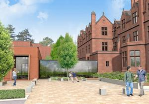An artist's impression of what the new education centre will look like