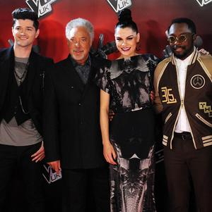 The Voice coaches Danny O'Donoghue, Tom Jones, Jessie J and Will I Am