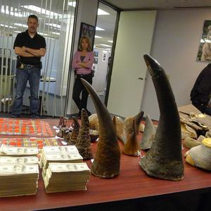 Some of the items recently seized by agents in raids in southern California (The Daily Breeze)