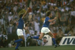 <b>Marco Tardelli</b> The celebration that would later be known as the 'Tardelli Cry' was witnessed in the 1982 World Cup, after the Italian scored in the final against West Germany. Tardelli (right) allowed raw emotion to take over as he ran shaking his head with his fists clenched over towards the jubilant Italian bench.