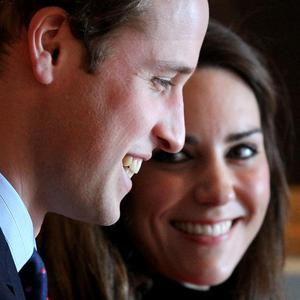 Prince William and Kate Middleton made a rare pre-wedding appearance as they attended a rehearsal for their nuptials