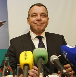 Aer Lingus chief executive Christoph Mueller said a new business strategy helped the airline return to profit