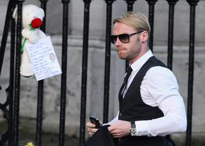 Ronan Keating attends the funeral of Boyzone singer Stephen Gately at St Laurence O'Toole Church in Dublin