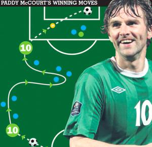 An illustration of Paddy McCourt's mazy run and superb goal