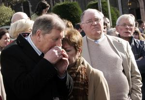 Parishioners   from the main churches  arrived at scene to pay respect to the families and loved ones of those affected.