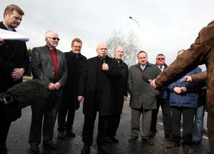 Representatives from the main churches who arrived at scene to pay respect