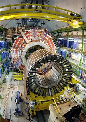 **ADVANCE FOR SUNDAY, JUNE 29--FILE**  In this March 22, 2007 file photo, the magnet core of the world's largest superconducting solenoid magnet (CMS, Compact Muon Solenoid) at the European Organization for Nuclear Research (CERN)'s Large Hadron Collider (LHC) particle accelerator, which is scheduled to switch on in November 2007, in Geneva, Switzerland.  Some 2000 scientists from 155 institutes in 36 countries are working together to build the CMS particle detector. (AP Photo/Keystone, Martial Trezzini, file)