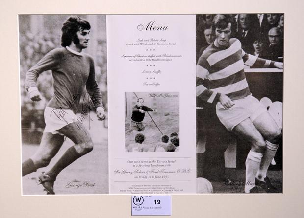 Some of the Best memorabilia up for grabs at Wilsons Auction house today. There are 110 lots of George Best memorabilia available, collected by Dickie Best over a period of 40 years.