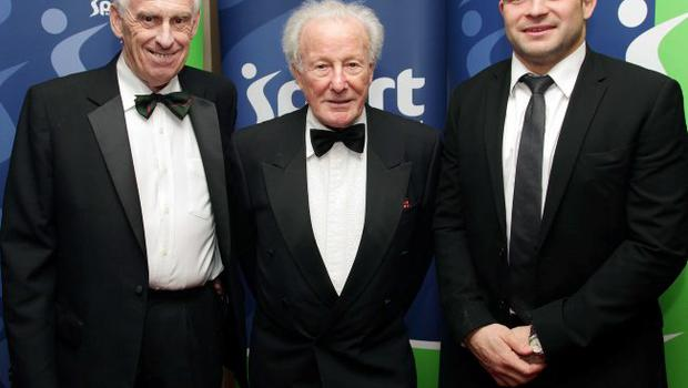 Alan Moneypenny, Jack Kyle and Rory Best. 2011 Linwoods and Sport Northern Ireland Belfast Telegraph Sports Awards at the Ramada Hotel, Belfast.
