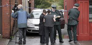 he scene at Boyd's Row in Armagh where police are treating the discovery of a woman's body as suspicious