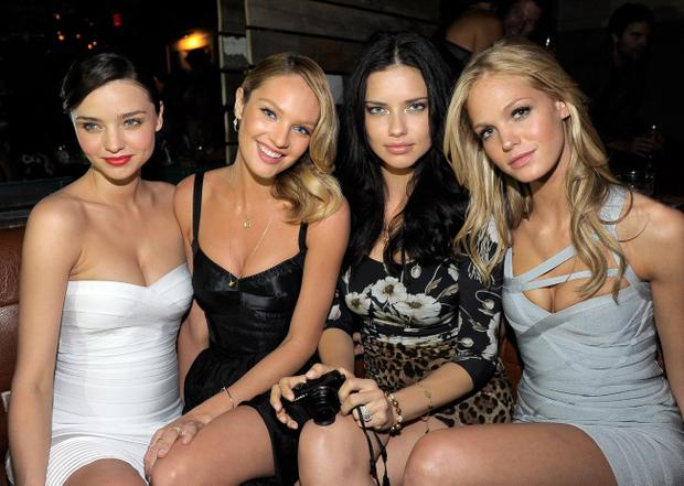 Models Miranda Kerr, Candice Swanepoel, Adriana Lima and Erin Heatherton attend The Reveal of the What Is Sexy? List celebrated by Victoria's Secret Bombshells at The Beverly  in Los Angeles, California.