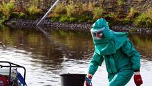 Northern Ireland Water has been fined after untreated sewage polluted a river in Co Antrim