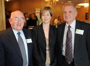 Wesley Livingston, Lisa Cartmill and Trevor Harvey from Bessbrook Development Company. Calor Village of the Year Award.