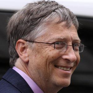 Bill Gates arrives at Downing Street for talks with David Cameron