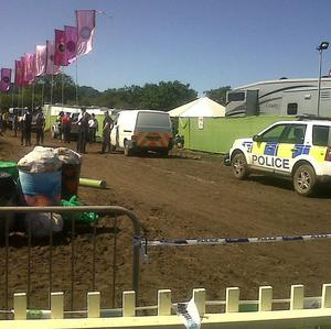 Christopher Shale was found dead in a portable toilet in the VIP area at Glastonbury Festival