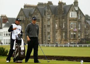 Justin Rose at The Open. July 2010