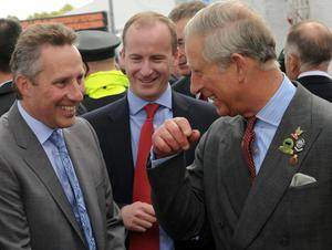 Newly Elected MP for North Antrim Ian Paisley Junior meeting HRH Prince Charles at Balmoral Show.