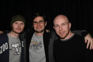 Glen Lyall, Peter Gilmore and Roddiger Sweeney at the Harp Ice Cold Big Gig in the Spring and Airbrake on 26th February