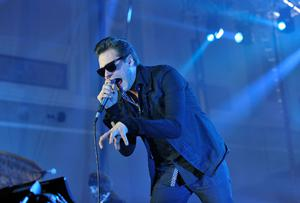 BELFAST, NORTHERN IRELAND - NOVEMBER 05:  Tom Meighan of Kasabian performs during a MTV Live Event ahead of the MTV Europe Music Awards 2011 at Ulster Hall on November 5, 2011 in Belfast, Northern Ireland.  (Photo by Gareth Cattermole/Getty Images)
