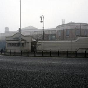 The bomb exploded outside Newry Courthouse, pictured