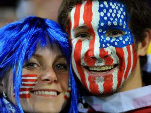 WELLINGTON, NEW ZEALAND - SEPTEMBER 23:  USA fans enjoy the atmosphere during match 23 of the IRB 2011 Rugby World Cup between Australia and the USA at Wellington Regional Stadium on September 23, 2011 in Wellington, New Zealand.  (Photo by Mike Hewitt/Getty Images)