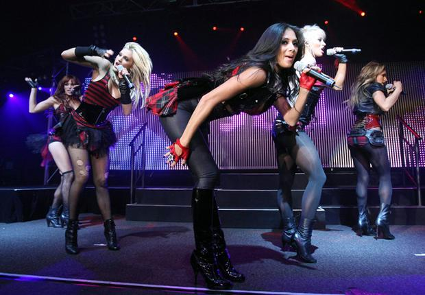 The Pussycat Dolls perform onstage at the Ford Live! Event in aid of The National Breast Cancer Foundation at the Queensbridge Hotel on October 16, 2008 in Melbourne, Australia. The girls are due to play Belfast's Kings Hall on 3rd Feb 09.