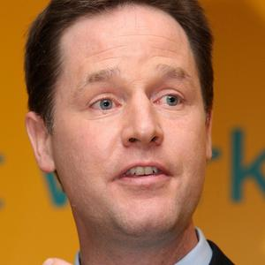 Nick Clegg likened Labour pledges on voting reform to a guarantee from Del Boy