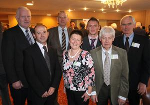 Brian Duffen, Colin McIlwrath, Kerr Wolsey, Una Johnston, Ronan Johnston, James Fulton and Henry Gribbon from Toombe. Calor Village of the Year Award.