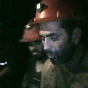 An image from a new video of some of the 33 trapped miners inside the San Jose mine in Copiapo, Chile (AP)