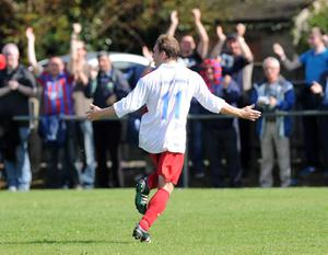 Ards Kylie Mc Dowell scores against Ards Rangers