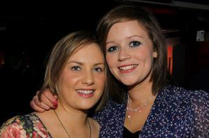 Aoife Grogan and Claire McNamee at the Guinness Black Lager event, Laverys, Belfast Continental Market