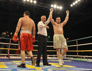 Martin Rogan returned to the ring in sensational style by finishing off Yavor Marinchev in just two minutes, 44 seconds at the University of Limerick Arena