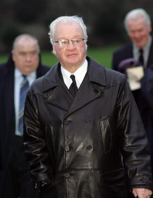 Billy Bingham at George Best's funeral
