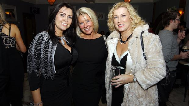 Irene Leahey, Denise Robinson and Mary Martin at the Alison Campbell Modelling Agency Christmas Party at Cafe Vaudeville. Picture by Kelvin Boyes / PressEye.com