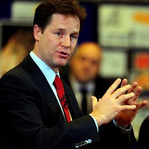Nick Clegg has defended the coalition Government's spending plans