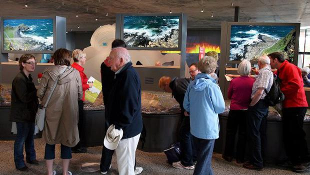 The Causeway visitors' centre's exhibition has a creationist stand