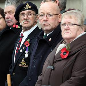 Britons have paid tribute to war dead during Armistice Day
