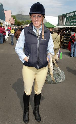 Ruth Wilson, 24, who is competing in the Small Hunters Equestrian Event.