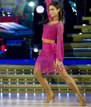 Christine Bleakley dazzling the judges on the Strictly Come Dancing