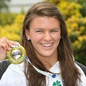 Grainne Murphy from Wexford who won silver in the 1,500 metres final at the European Swimming Championships in Budapest