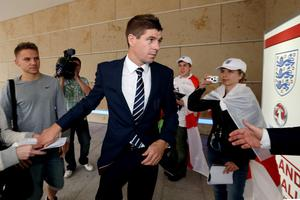 KRAKOW, POLAND - JUNE 25:  England captain Steven Gerrard arrives for a UEFA EURO 2012 press conference on June 25, 2012 in Krakow, Poland.  (Photo by Scott Heavey/Getty Images)
