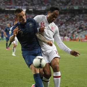 Mathieu Debuchy (left) has impressed with his displays for France at Euro 2012