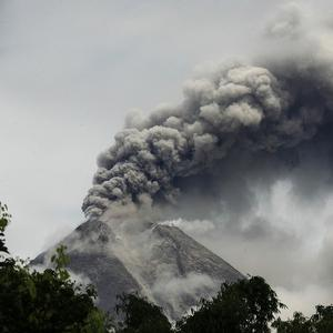 Villages near Mount Merapi were evacuated after a powerful eruption.